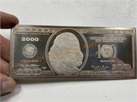 4 Troy Ounces $100 Bill