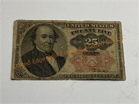 1874 25 cents paper note