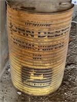 John Deere Oil Barrel