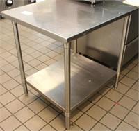 John Boos Model FBLG3036-X SS Work Table