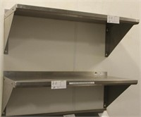 (3) John Boos Model BHS1636 wall mtd shelves, SS
