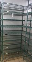 """Focus Green Epoxy Coated Wire Shelf Unit 42""""W x24"""""""