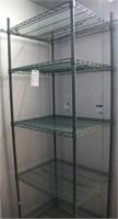"""Focus Green Epoxy Coated Wire Shelf Unit 30""""W x24"""""""