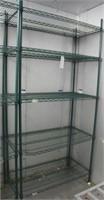 """Focus Green Epoxy Coated Wire Shelf Unit 42""""W x21"""""""