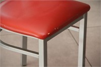"""(2)Pedestal tables with 4 chairs, 23"""" x 28"""" x 30""""H"""