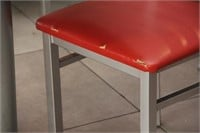 """(4)Pedestal tables with 2 chairs, 23"""" x 28"""" x 30""""H"""