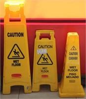 3 Caution Wet Floor signs