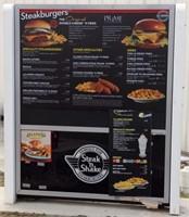 """Drive Thru Canopy, Lighted menu board 54"""" x 62"""""""