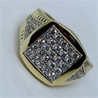 A STUNNING 14KT YELLOW GOLD 1.20CTS DIAMOND RING