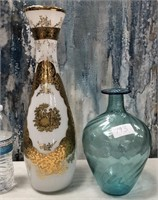 793 - BEAUTIFUL VASES - BLUE ONE IS SIGNED