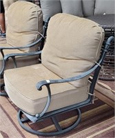 11 - PAIR OF PATIO SWIVE CHAIRS