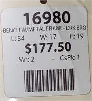 43 - NEW WMC DK BROWN TUFFTED BENCH ($177.50)