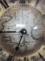 793 - BEAUTIFUL MAP CLOCK - SEE PICS