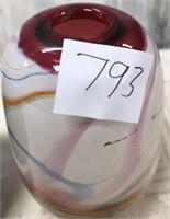 793 - LOT OF 2 BEAUTIFUL GLASS DECOR