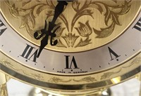 76 - GORGEOUS GERMAN CLOCK IN GLASS CASE