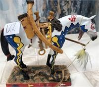122 - BEAUTIFUL HORSE & MOUNTAIN LION DECOR