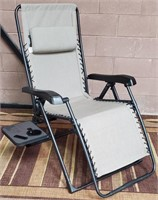 C - NEW PATIO LONGE CHAIR W/CUP/PHONE HOLDER