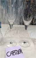 76 - STUNNING SIGNED CARTIER WINE GLASSES