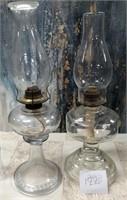 122 - PAIR OF BEAUTIFUL OIL LAMPS