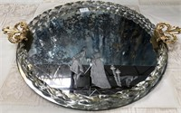 793 - GORGEOUS PURFUME GLASS TRAY