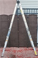 C - SILVER 18FT MAX REACH LADDER - SEE PICS 4 COND