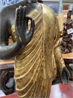 714 - BEAUTIFUL GOLD/BLACK STANDING BUDDA