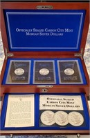 LOT OF 3 UNCIRCULATED SILVER CC MORGAN DOLLARS