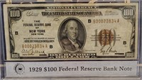 1929 $100 DOLLAR FEDERAL RESERVE BANK NOTE