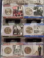 THIS IS 8 PAGES OF JFK HALF DOLLARS - SEE PICS