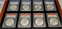 ANERICAN EAGLE SILVER DOLLAR COLLECTION - SEE PICS