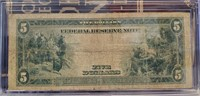 $5 DOLLAR FEDERAL RESERVE BANK NOTE