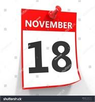 November 18th @ 7 pm     KEEP CHECKING BACK!!!