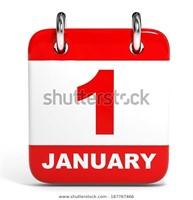 January 1st @ 3 pm     KEEP CHECKING BACK!!!