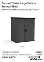 C - NEW LARGE GREY STORAGE SHED
