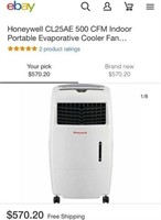 C - HONEYWELL EVAPORTIVE AIR COOLER - SEE PICS