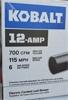 C - KOBALT 12-AMP ELETRIC CORDED LEAF BLOWER