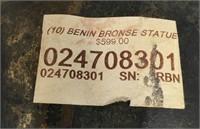 34 - BENIN BRONZE STATUE