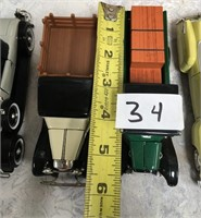 34 - LOT OF 5 COLLECTABLE CARS - SEE PICS