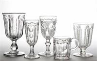 Rare flint EAPG drinking vessels