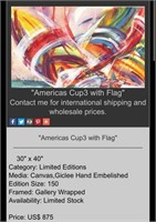 31 - SIGNED & NUMBERED STARS & STRIPES WALL ART