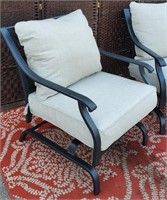 C - PAIR OF PATIO CHAIRS W/CUSIONS