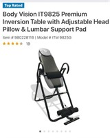 NEW IN BOX - BODY VISION INVERTION TABLE