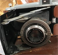 34 - LOT OF VINTAGE IRON & CAMERA
