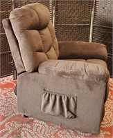 BEAUTIFUL BROWN SITTING CHAIR - SEE PICS 4 COND.