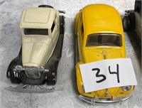 34 - LOT OF 6 DIE CAST COLLECTABLE CARS - SEE PICS