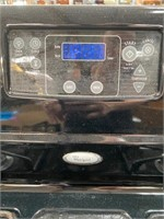 11 - WHIRLPOOL BLACK GAS STOVE - SEE PICS 4 COND
