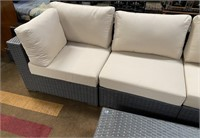 C - BEAUTIFUL PATIO SECTIONAL W/TABLE W/GLASS TOP