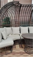 c - RATTAN PATIO SEATING GROUP W/TABLE
