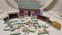 Wards Stock Farm Wood Barn Set