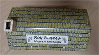 Metal Roy Rogers Double R Bar ranch house